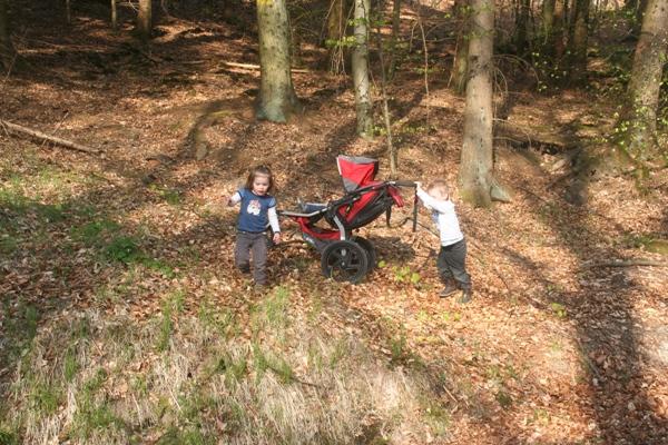 Outdoor mit dem Kinderwagen