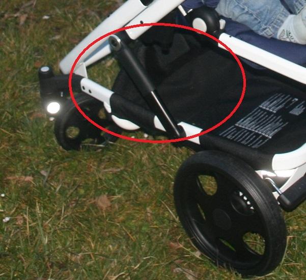 Federung Kinderwagen Detail